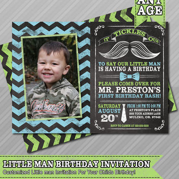 Shop little man mustache invitations on wanelo little man birthday invitation mustache invitation chalkboard first birthday photo filmwisefo
