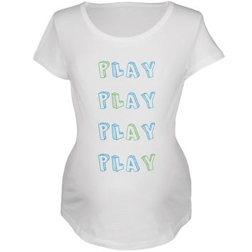 All About Play White Soft Maternity T-Shirt