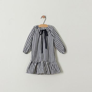 New Girls 2018 Spring Dress Girls' Flare Kids Stripe Dress Children Autumn Dress Toddler Cotton Clothes Baby Dress,2-10Y,#2265