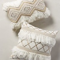 Moroccan Wedding Pillow by Anthropologie in Neutral Size: