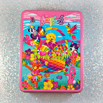 VINTAGE Lisa Frank Easter Tin