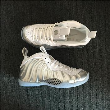 Air Foamposite One Silver/White Sneaker Shoe