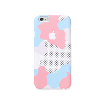 iPhone 6s case - Pastel Geo - iPhone 6 case, iPhone 6s case, iPhone 6 Plus case, Good Luck Gold Sticker, non-glossy hard shell C17