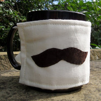 Moustache Mug Cosy reversible by MrTeacup on Etsy