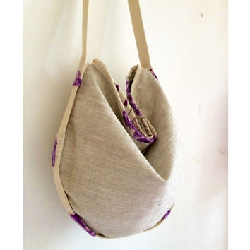 shoulder bag fashion design handmade, womens tote bag in linen and cotton, cloth handbags gifts for her, original design made in italy