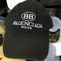 High Quality Balenciaga Fashion Women Men Casual Letter Embroidery Sport Sunhat Embroidery Baseball Cap Hat Black I-GQHY-DLSX