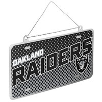 Oakland Raiders Official NFL Metal License Plate Ornament