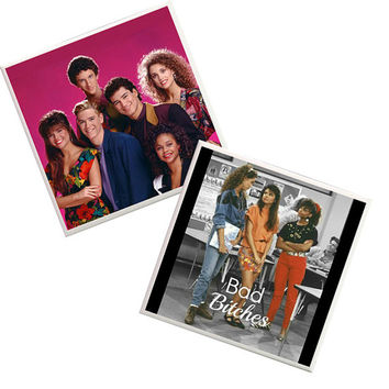 Saved by the bell Coasters, 90s tv shows, apartment decor, Dorm Room Decor, Zack Morris, Kelly Kapowski, AC Slater, Screech, Bad Bitches