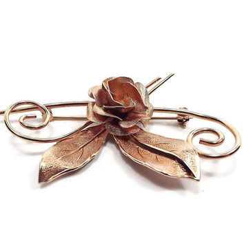 Gold Filled Winard Vintage Rose Brooch 12K GF Flower Pin Mid Century Floral Jewelry Hippie Mod Spring Summer