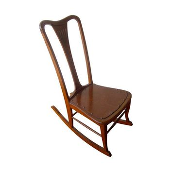 Pre-owned Antique New York Rocking Chair