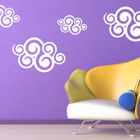 Tribal Clouds Vinyl Wall Decal Graphics Home Decor - LARGE