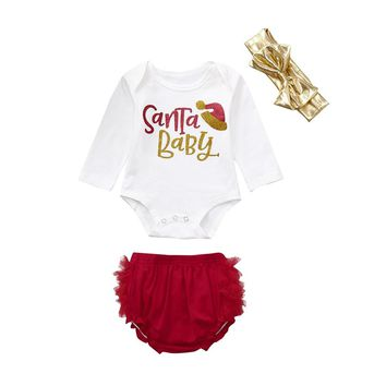 LL Santa Baby Children's Romper Set