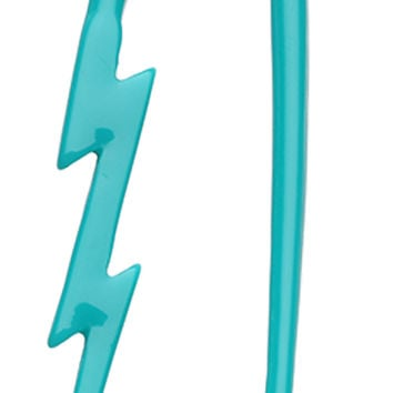 Lightning Bolt Acrylic Ear Gauge Buffalo Taper
