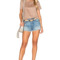 1. STATE Faux Suede Top in Light Truffle | REVOLVE