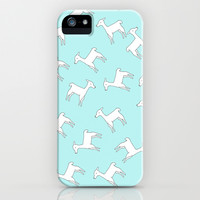 *** Baby Lama  *** Pattern Mint iPhone & iPod Case by Monika Strigel for iphone 5c, 5s, 4s, 4, 3gs, 3g, ipod and samsung galaxy !!!