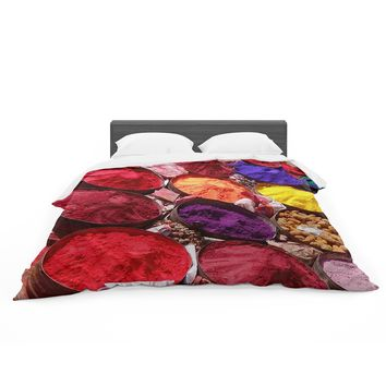 "Carina Povarchik ""Indian Powders"" Red Photography Featherweight Duvet Cover"