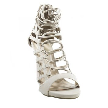 HerStyle Women's Valley Manmade Lace-up Stiletto Sandal