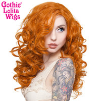 "Lace Front 22"" Cosplay - Dark Pumkin Orange -00256"
