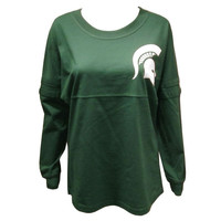 Michigan State Pom Spirit Jersey - Forest