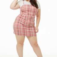 Plus Size Tartan Plaid Mini Dress