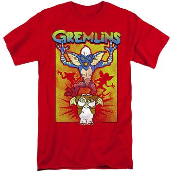 Gremlins 2 Tall T-Shirt Gizmo's Afraid Red Tee