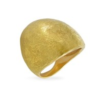 Torrini Designer Rings Elena - Flamed 18K Yellow Gold Shield Ring