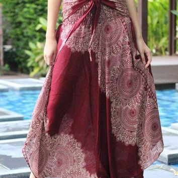Boho Maxi Skirt Bohemian Long Skirts floor length skirt Red Lai Thai Bow Tie Sash Belt Asymmetric hem designBoho Maxi Skirt Bohemian Long Skirts floor length skirt Red Lai Thai Bow Tie Sash Belt Asymmetric hem design