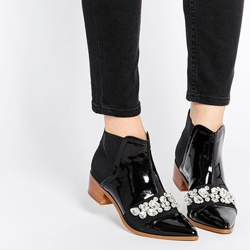 ASOS ROCK CITY Embellished Ankle Boots