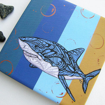 Shark Canvas Print - Gallery Wrapped Reproduction