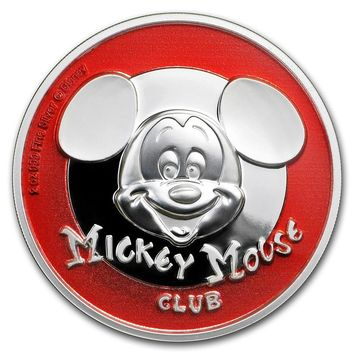 2019 Niue 2 oz Silver $5 Mickey Mouse Club Ultra High Relief Proof
