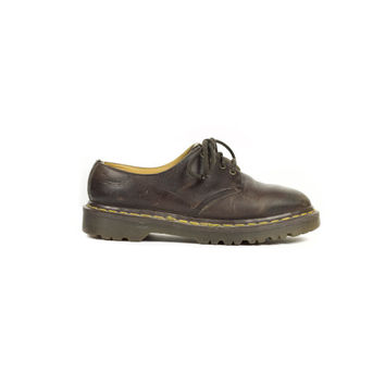 4 uk | 90s Dr Martens made in england brown leather oxfords /  vintage 1990s / oxford shoes / Docs / grunge / unisex / womens US 6 / EU 38