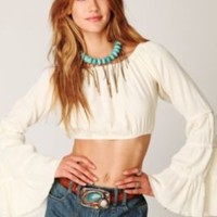 Free People Super Crop Guaze Top at Free People Clothing Boutique