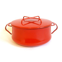 Dansk Kobenstyle Enamel Dutch Oven Pot Red Large Jens Quistgaard