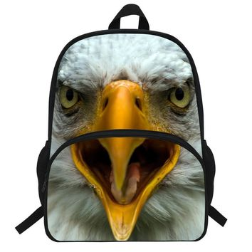 16-Inch Cute Kids Animal Bags Owl Print Backpack For Girls For School Night Owl Print Bag For Boys School Backpack For Teenagers