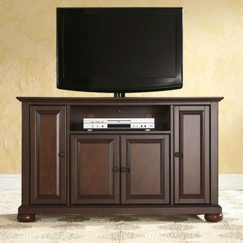 Vintage Mahogany Wood Finish 48-inch Entertainment Center TV Stand