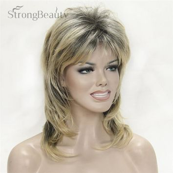 Strong Beauty Natural Synthetic Capless Full Long Wig Wave Blonde Wigs For Women 14 Colors