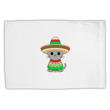 Cat with Sombrero and Poncho Standard Size Polyester Pillow Case by TooLoud