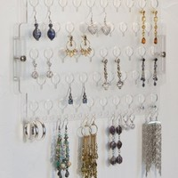 Earring Holder Organizer Closet Jewelry Storage Rack Acrylic - Angelynn's Jewelry Organizers (Earring Angel Clear)