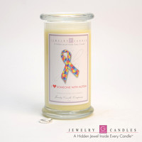 I Love Someone With Autism Jewelry Greeting Candles