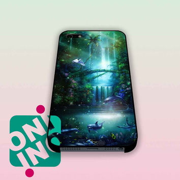 Fantasy Dolphin Waterfall iPhone Case Cover | iPhone 4s | iPhone 5s | iPhone 5c | iPhone 6 | iPhone 6 Plus | Samsung Galaxy S3 | Samsung Galaxy S4 | Samsung Galaxy S5