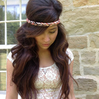Braid Stretch Headband in Tribal/Aztec