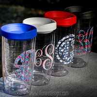 Lilly Pulitzer Monogrammed Insulated Tumbler - many monogram styles and Lilly prints to choose from!
