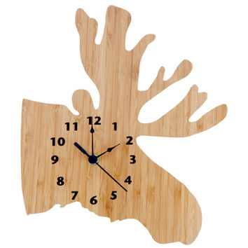 Trend Lab Nursery Kids Baby Product And Decorative Accessories Wall Clock -Northwoods Moose