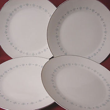 Mikasa, China Dinnerware Blue Elegance Pattern #6223 set 4 dinner plate