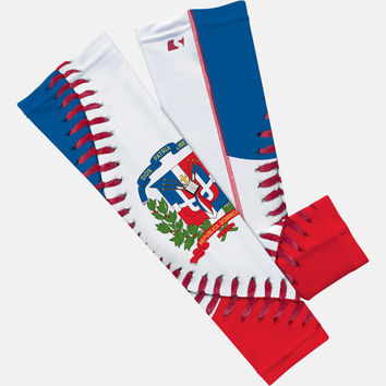 Dominican Republic Flag Baseball Lace Arm Sleeve
