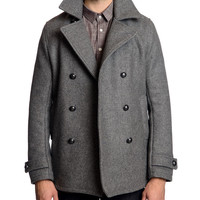 Melton Wool Peacoat | Roden Gray