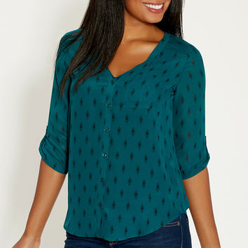 the perfect blouse in diamond pattern