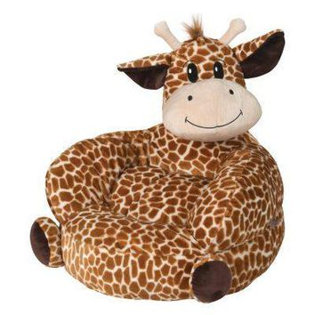 Children's Plush Giraffe Character Chair