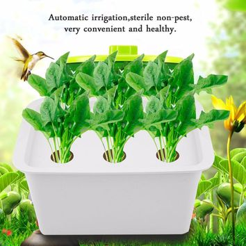 6 Holes 110V Plant Site Hydroponic System Indoor Garden Cabinet Box Grow Kit Bubble Garden Pots Drop Shipping