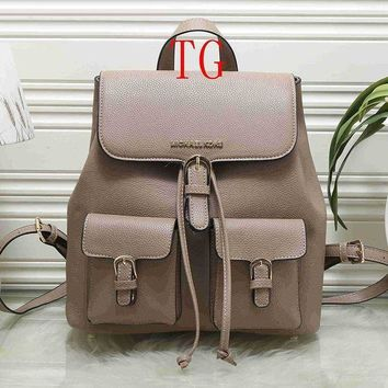 MK Michael Kors Women Fashion Leather Backpack Bookbag Shoulder Bag